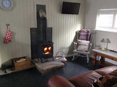 The Stable living area at New Wood Farm